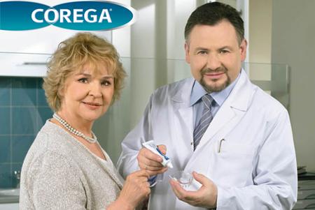 Фото: крем Корега для фиксации зубных протезов