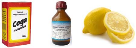 Фото: сода, перекиси водорода и лимон для отбеливания зубов