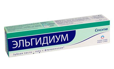 Фото: лечебная зубная паста Эльгидиум