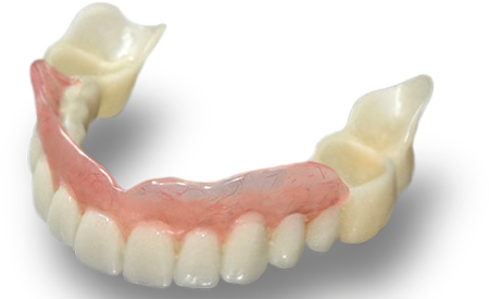 Фото: съемный зубной протез сэндвич